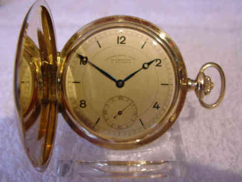 Goldsavonette  Deutsche Uhrenfabrikation Union  Glashütte i. Sa. (Nr. 80425)